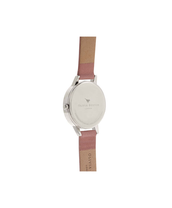 OLIVIA BURTON LONDON  Wonderland Rose, Silver & Rose Gold Watch OB15WD50 – Midi Dial Round in Silver and Rose - Back view