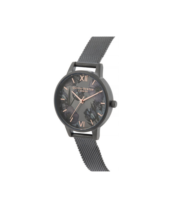 OLIVIA BURTON LONDON Twilight Midi Dial WatchOB16TW07 – Midi Dial in black and Gunmetal - Side view