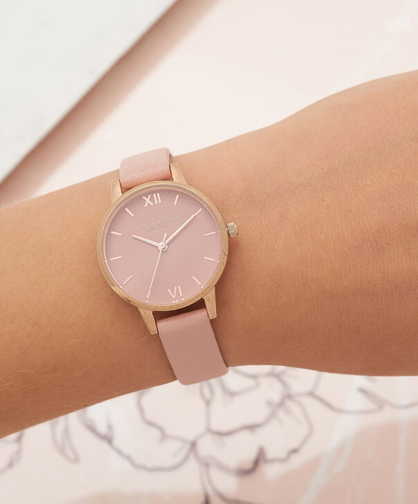 OLIVIA BURTON LONDON  Midi Dial Pink And Rose Gold Watch OB16MD77 – Midi Dial Round in Rose Gold and Pink - Other view