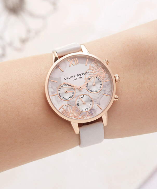 OLIVIA BURTON LONDON  Chrono Demi Dial Dusty Pink & Rose Gold OB16CGS07 – Demi Dial Round in Rose Gold and Pink - Other view