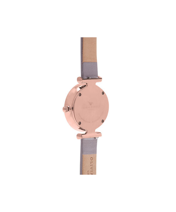 OLIVIA BURTON LONDON  Social Butterfly White Dial Grey Lilac & Rose Gold Watch OB16MB13 – Midi Dial Round in White and Rose Gold - Back view