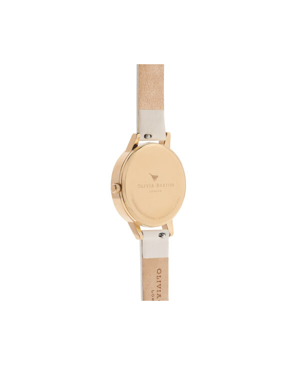 OLIVIA BURTON LONDON  Glasshouse Nude & Gold OB16EG99 – Midi Dial Round in Gold and Nude - Back view
