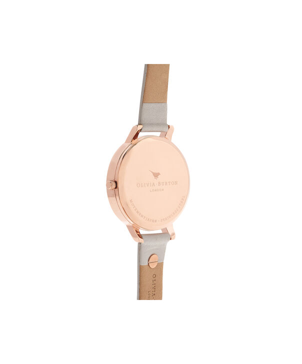 OLIVIA BURTON LONDON  3D Bee Embellished Strap Blush & Rose Gold Watch OB16ES02 – Big Dial Round in White and Blush - Back view