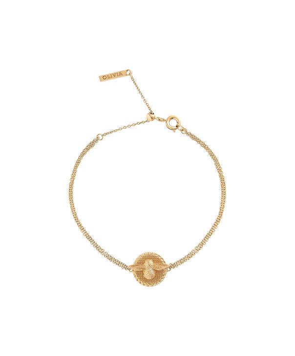 OLIVIA BURTON LONDON 3D Bee & Coin Chain Bracelet Gold OBJ16AMB22 – 3D Bee Chain Bracelet - Front view
