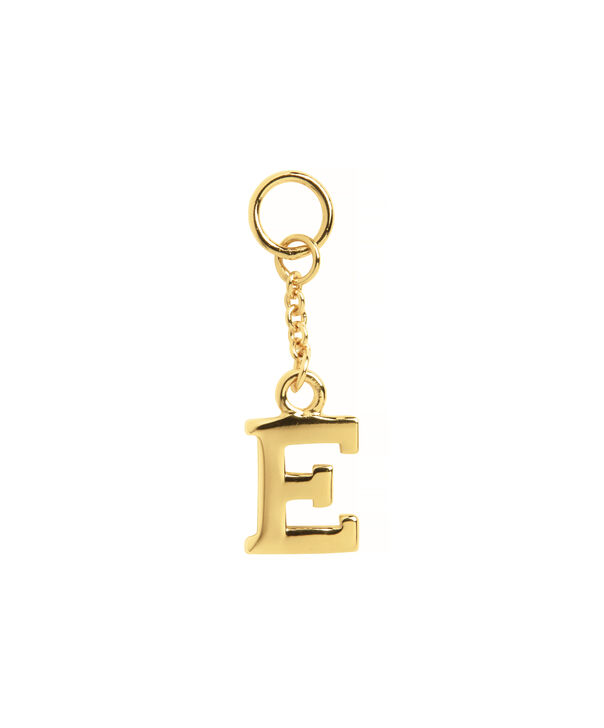 OLIVIA BURTON LONDON  E Alphabet Huggie Charm Gold OBJ16HCGE – Charms - Front view