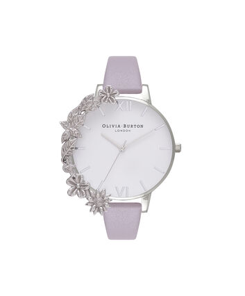 OLIVIA BURTON LONDON Case Cuff Grey Lilac and SilverOB16CB05 – Removable Case Cuff - Front view