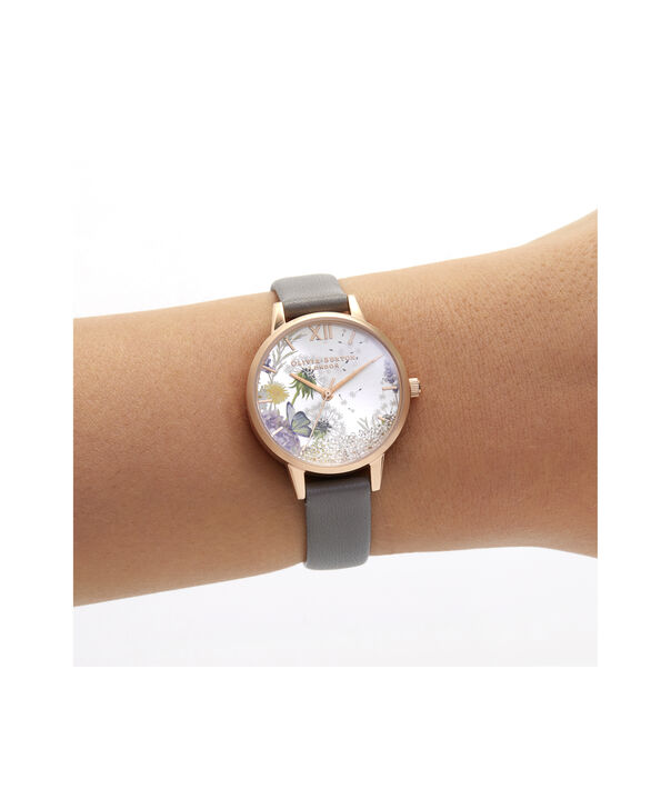 OLIVIA BURTON LONDON Wishing Watch Midi London Grey & Rose GoldOB16SG02 – Midi Dial in grey and Rose Gold - Other view