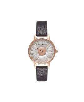 Flower Show 3D Daisy Black & Rose Gold Watch