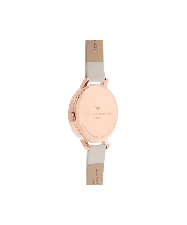 OLIVIA BURTON LONDON  Vegan Friendly Nude & Rose Gold Watch OB16BDV01 – Big Dial Round in Rose Gold and Nude - Back view