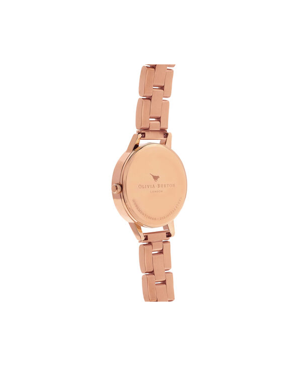 OLIVIA BURTON LONDON  Midi Dial Bracelet Rose Gold Watch OB13BL05B – Midi Dial Round in Rose Gold - Back view