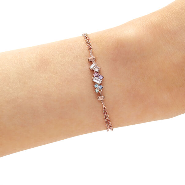 OLIVIA BURTON LONDON Rainbow Bee Chain Bracelet Rose GoldOBJAMB76 – Rainbow Bee Chain Bracelet Rose Gold - Back view