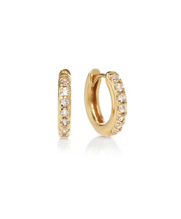 OLIVIA BURTON LONDON Huggie Hoop Earrings with White TopazOBJ16COE21 – Huggie Hoop Earrings - Front view