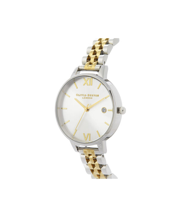 OLIVIA BURTON LONDON Sunray Demi Dial WatchOB16DE05 – gold and Silver & Gold - Side view
