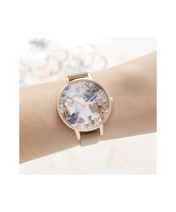 OLIVIA BURTON LONDON Marble Florals Big Dial WatchOB16CS17 – Big Dial in Brown and Rose Gold - Other view