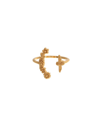 OLIVIA BURTON LONDON  Bee Blooms Ring Gold  OBJ16BBR02 – Bee Blooms Ring - Front view