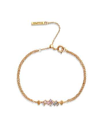 OLIVIA BURTON LONDON Rainbow Bee Chain Bracelet GoldOBJAMB80 – Rainbow Bee Chain Bracelet Gold - Front view