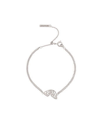 OLIVIA BURTON LONDON Butterfly WingOBJ16EBB03 – Butterfly Wing Chain Bracelet - Front view
