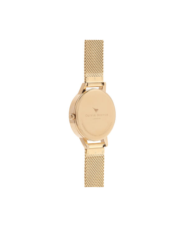 OLIVIA BURTON LONDON  English Garden Gold Mesh Watch OB16ER12 – Midi Dial Round in White and Gold - Back view
