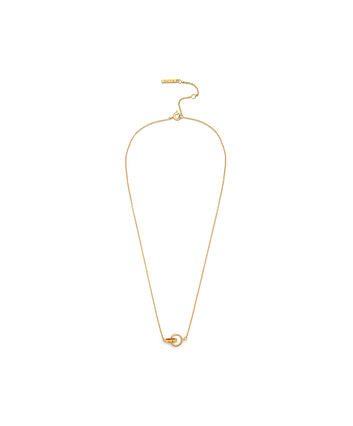 OLIVIA BURTON LONDON Interlink Necklace GoldOBJ16ENN56 – Interlink Necklace Gold - Front view