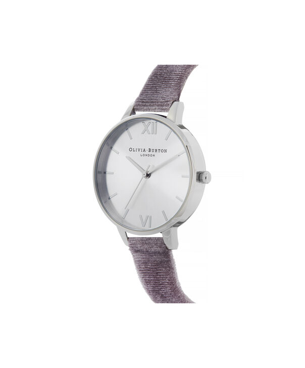 OLIVIA BURTON LONDON Sunray Demi Dial Watch with Lilac VelvetOB16DE04 – Demi Dial in parma violet and Silver - Side view
