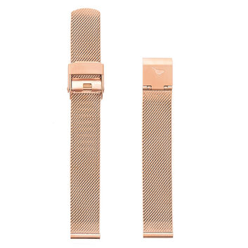 OLIVIA BURTON LONDON Midi Dial Rose Gold Mesh StrapOBS124A – Rose Gold Mesh Bracelet Strap - Front view