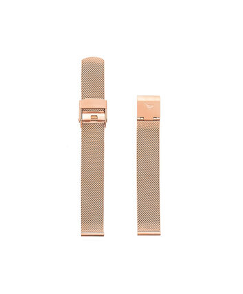 OLIVIA BURTON LONDON Big Dial Rose Gold Mesh StrapOBS169A – Rose Gold Mesh Bracelet Strap - Front view