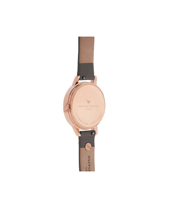OLIVIA BURTON LONDON  Enchanted Garden Grey & Rose Gold Watch OB16ES06 – Midi Dial Round in Rose Gold and Grey - Back view