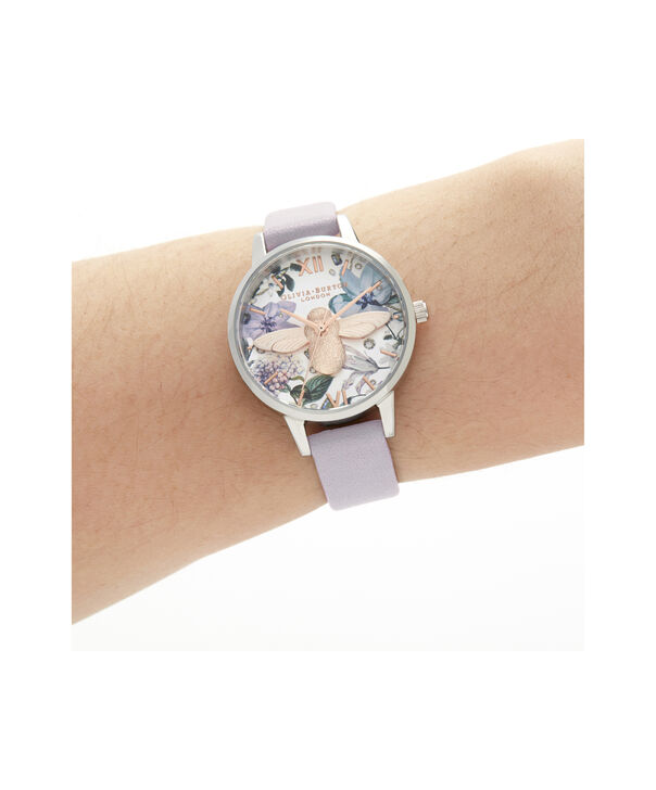 OLIVIA BURTON LONDON Bejewelled Florals Midi 3D Bee Parma Violet, Rose Gold & SilverOB16BF22 – Demi Dial In Parma Violet And Silver - Other view