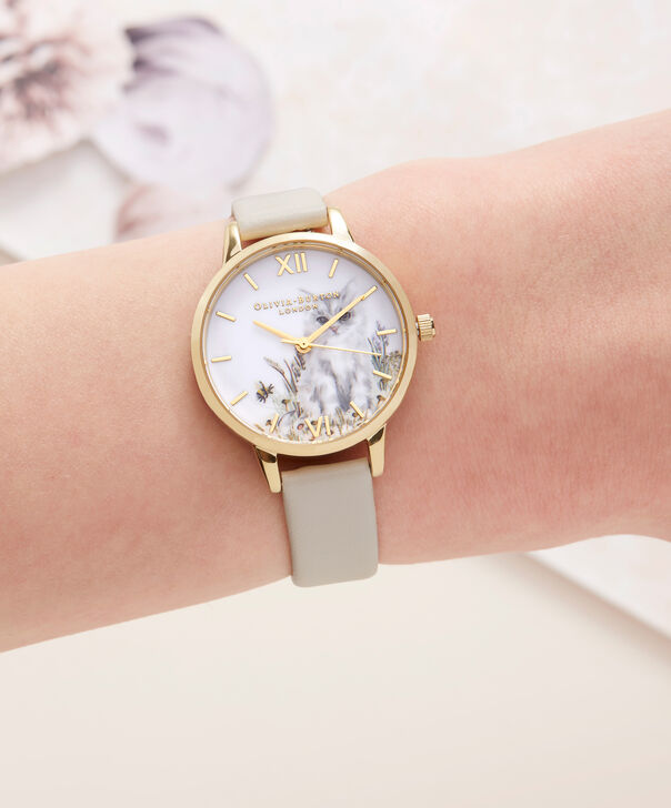 OLIVIA BURTON LONDON  Vegan Friendly Nude & Gold Watch OB16WL67 – Midi Dial Round in White and Nude - Other view