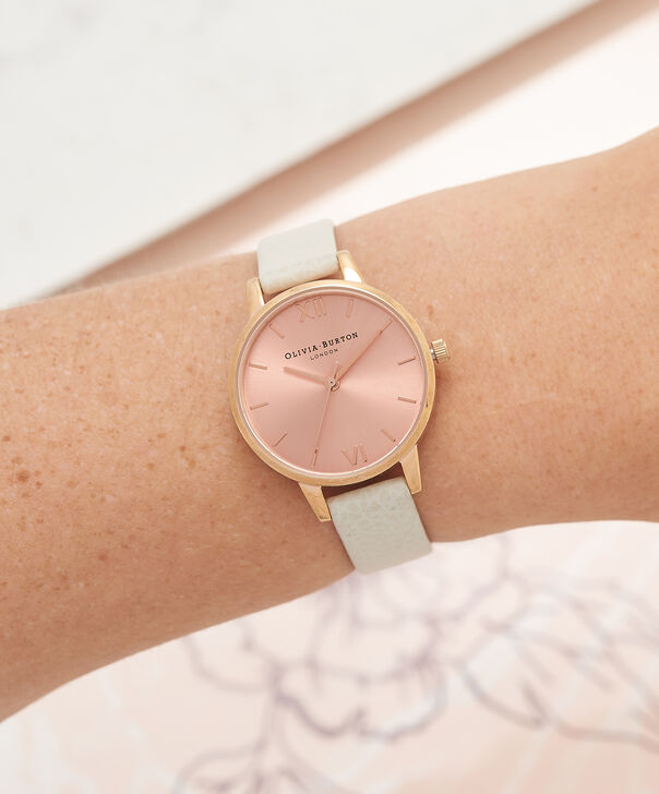 OLIVIA BURTON LONDON  Midi Dial Mink And Rose Gold Watch OB14MD21 – Midi Dial Round in Rose Gold and Mink - Other view