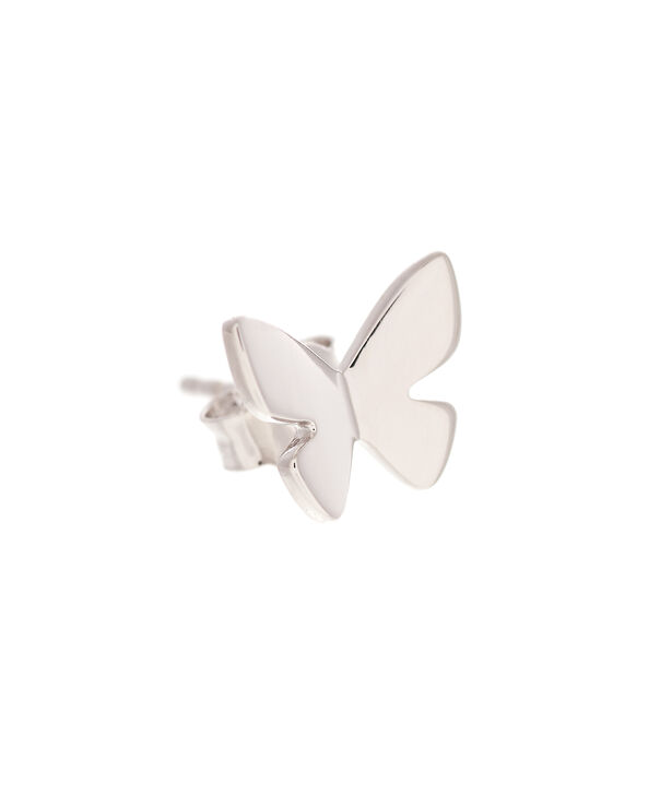 OLIVIA BURTON LONDON  Social Butterfly Stud Earrings Silver OBJ16SBE03 – Social Butterfly Stud Earrings - Side view