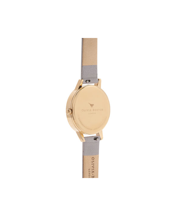 OLIVIA BURTON LONDON Peony Parlour Sunray Midi Dial Watch OB16PL48 – Midi Dial in grey and Gold - Back view
