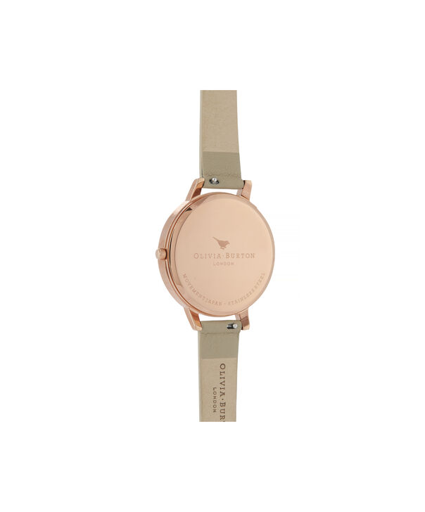 OLIVIA BURTON LONDON Marble Florals Big Dial WatchOB16CS17 – Big Dial in Brown and Rose Gold - Back view