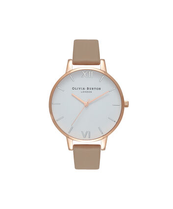OLIVIA BURTON LONDON White DialOB16BDW31 – Big Dial in Rose Gold, White and Sand - Front view