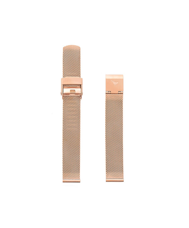 OLIVIA BURTON LONDON Big Dial Rose Gold Mesh Bracelet Watch StrapOBS169A – Rose Gold Mesh Bracelet Strap - Front view