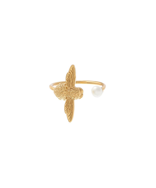 OLIVIA BURTON LONDON  Pearl Bee Ring Gold  OBJ16AMR08 – Pearl Bee Ring - Front view