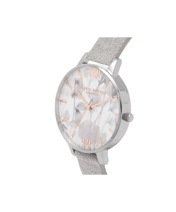 OLIVIA BURTON LONDON  Eco Friendly Grey Lilac, Rose Gold & Silver OB16VE13 – Big Dial Round in Silver , Rose Gold and Grey - Side view