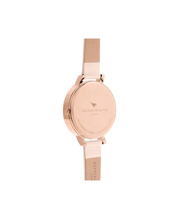OLIVIA BURTON LONDON  3D Bee Nude Peach & Rose Gold Watch OB16AM99 – Big Dial in Chocolate and Peach - Back view