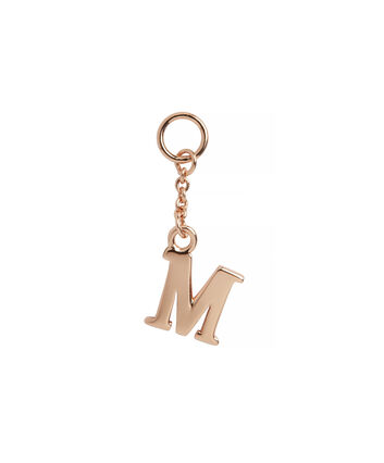 OLIVIA BURTON LONDON  M Alphabet Huggie Charm Rose Gold OBJ16HCRGM – Charms - Front view