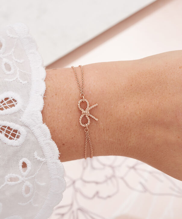 OLIVIA BURTON LONDON  Vintage Bow Chain Bracelet Rose Gold OBJ16VBB02 – Vintage Bow Chain Bracelet - Other view
