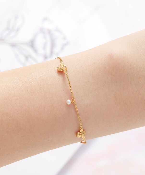 OLIVIA BURTON LONDON  Pearl Bee Chain Bracelet Gold OBJ16AMB40 – Pearl Bee Chain Bracelet - Other view