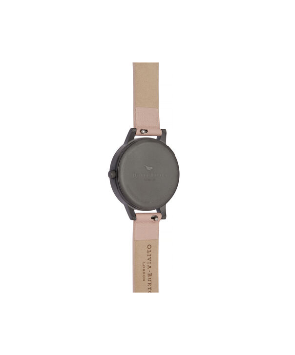 OLIVIA BURTON LONDON Twilight Midi Dial Watch with Grey Mother-Of-PearlOB16TW04 – Midi Dial in pink and Gunmetal - Back view