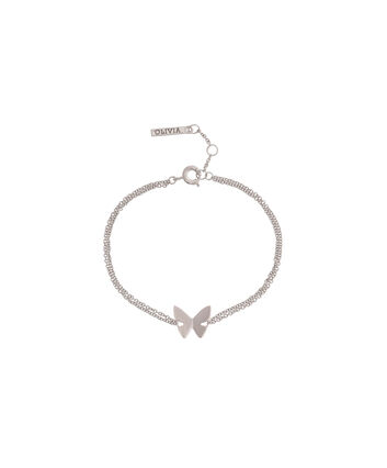 OLIVIA BURTON LONDON Butterfly WingOBJ16SBB03 – Butterfly Wing Chain Bracelet - Front view