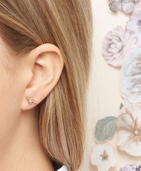 OLIVIA BURTON LONDON 3D Bee Studs Rose Gold OBJ16AME23 – 3D Bee Stud Earrings - Other view