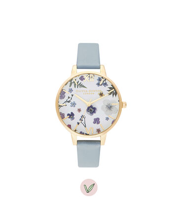 OLIVIA BURTON LONDON Artisan Vegan Chalk Blue & Pale GoldOB16AR08 – Artisan Vegan Chalk Blue & Pale Gold - Front view
