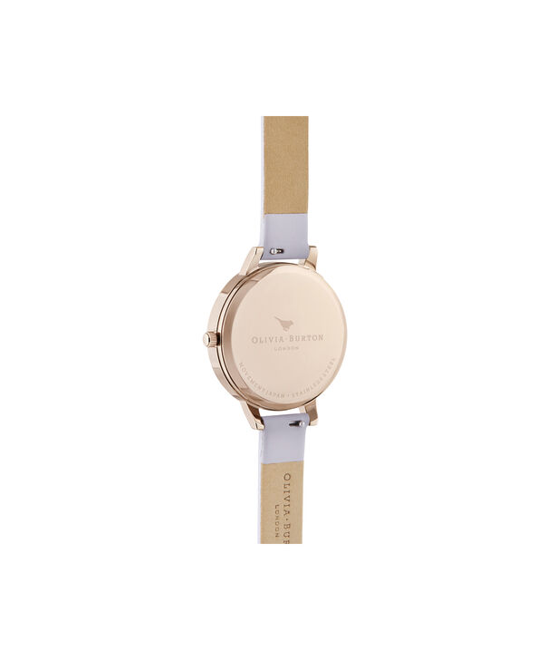 OLIVIA BURTON LONDON Demi White Dial Parma Violet & Pale Rose GoldOB16DE09 – Demi Dial In Parma Violet And Rose Gold - Back view