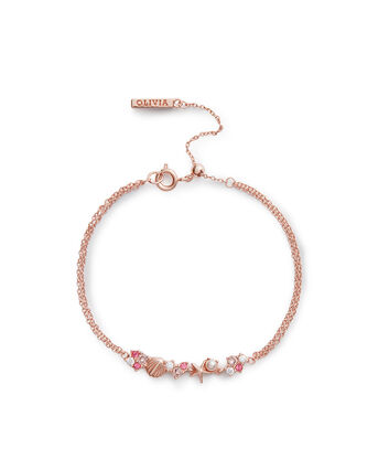 OLIVIA BURTON LONDON Under The Sea Chain Bracelet Rose GoldOBJSCB03 – SHOPBAG_LABEL - Front view