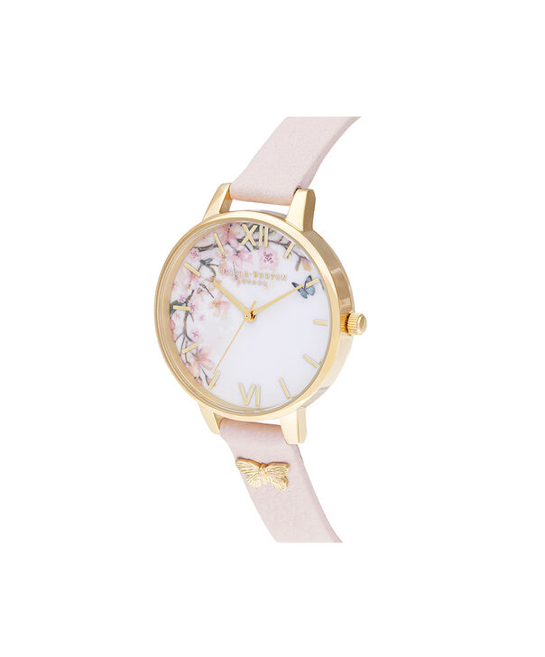 OLIVIA BURTON LONDON Pretty Blossom Demi Blossom & GoldOB16EG123 – Pretty Blossom Demi Blossom & Gold - Side view
