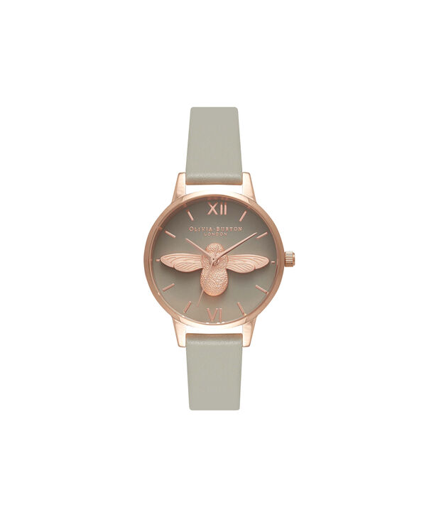 84f6962a1dc3 OLIVIA BURTON LONDON Midi 3D Bee Grey Dial & Rose Gold Watch OB15AM77 –  Midi Dial ...