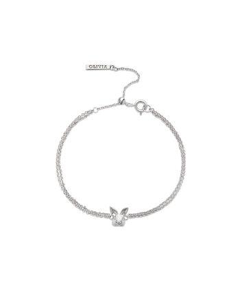 OLIVIA BURTON LONDON 3D Bunny Chain Bracelet SilverOBJAMB98 – 3D Bunny Chain Bracelet Silver - Front view